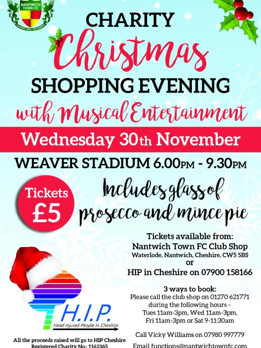 christmas shopping leaflet