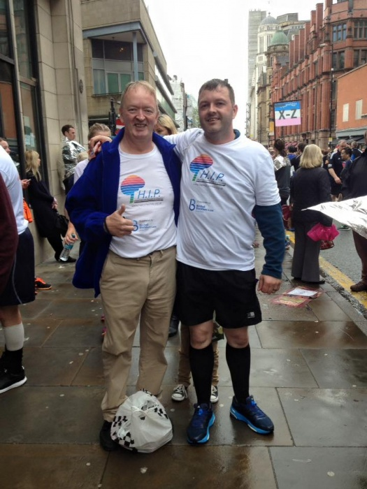paul and Gary at manchester marathon