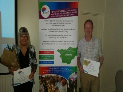 paul and linda with awards